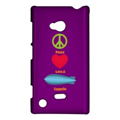 Peace Love & Zeppelin Nokia Lumia 720 Hardshell Case