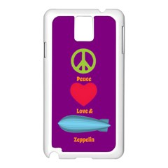 Peace Love & Zeppelin Samsung Galaxy Note 3 N9005 Case (White)
