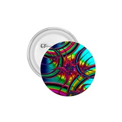 Abstract Neon Fractal Rainbows 1 75  Button