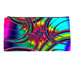 Abstract Neon Fractal Rainbows Pencil Case
