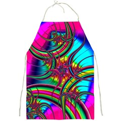 Abstract Neon Fractal Rainbows Apron