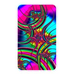 Abstract Neon Fractal Rainbows Memory Card Reader (rectangular)