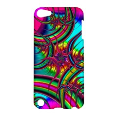 Abstract Neon Fractal Rainbows Apple Ipod Touch 5 Hardshell Case