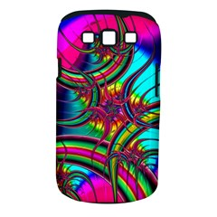 Abstract Neon Fractal Rainbows Samsung Galaxy S Iii Classic Hardshell Case (pc+silicone)