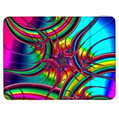 Abstract Neon Fractal Rainbows Samsung Galaxy Tab 7  P1000 Flip Case