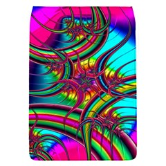 Abstract Neon Fractal Rainbows Removable Flap Cover (small)