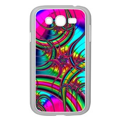 Abstract Neon Fractal Rainbows Samsung Galaxy Grand DUOS I9082 Case (White)