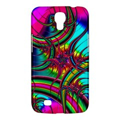 Abstract Neon Fractal Rainbows Samsung Galaxy Mega 6.3  I9200 Hardshell Case
