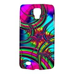 Abstract Neon Fractal Rainbows Samsung Galaxy S4 Active (I9295) Hardshell Case