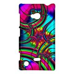 Abstract Neon Fractal Rainbows Nokia Lumia 720 Hardshell Case