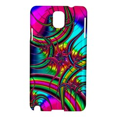 Abstract Neon Fractal Rainbows Samsung Galaxy Note 3 N9005 Hardshell Case