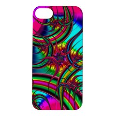 Abstract Neon Fractal Rainbows Apple Iphone 5s Hardshell Case
