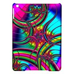 Abstract Neon Fractal Rainbows Apple Ipad Air Hardshell Case
