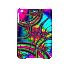 Abstract Neon Fractal Rainbows Apple iPad Mini 2 Hardshell Case