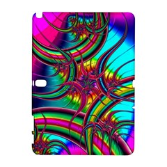 Abstract Neon Fractal Rainbows Samsung Galaxy Note 10 1 (p600) Hardshell Case