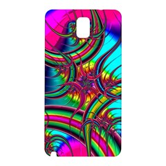 Abstract Neon Fractal Rainbows Samsung Galaxy Note 3 N9005 Hardshell Back Case
