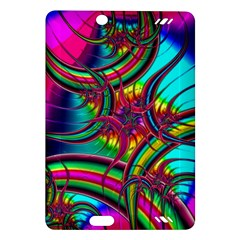 Abstract Neon Fractal Rainbows Kindle Fire HD 7  (2nd Gen) Hardshell Case