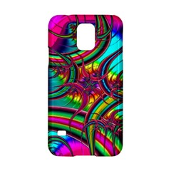 Abstract Neon Fractal Rainbows Samsung Galaxy S5 Hardshell Case