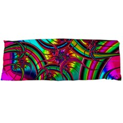 Abstract Neon Fractal Rainbows Body Pillow (Dakimakura) Case (Two Sides)