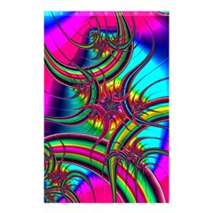 Abstract Neon Fractal Rainbows Shower Curtain 48  x 72  (Small)