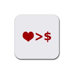 Love Is More Than Money Drink Coasters 4 Pack (square)