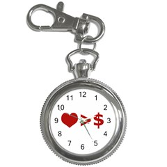 Love Is More Than Money Key Chain Watch