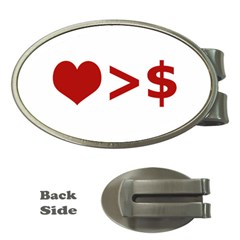 Love Is More Than Money Money Clip (Oval)