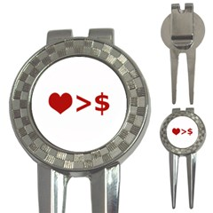 Love Is More Than Money Golf Pitchfork & Ball Marker