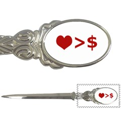 Love Is More Than Money Letter Opener