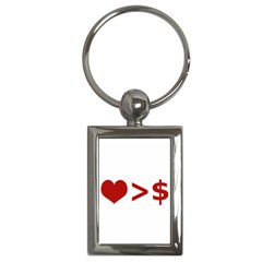 Love Is More Than Money Key Chain (rectangle)
