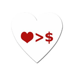 Love Is More Than Money Magnet (Heart)