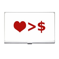 Love Is More Than Money Business Card Holder