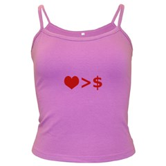 Love Is More Than Money Spaghetti Top (colored)
