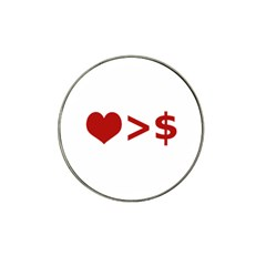 Love Is More Than Money Golf Ball Marker 4 Pack (for Hat Clip)