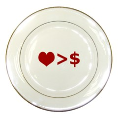 Love Is More Than Money Porcelain Display Plate
