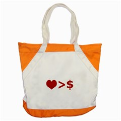Love Is More Than Money Accent Tote Bag