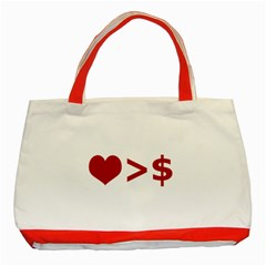 Love Is More Than Money Classic Tote Bag (Red)