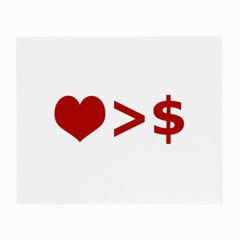 Love Is More Than Money Glasses Cloth (Small, Two Sided)