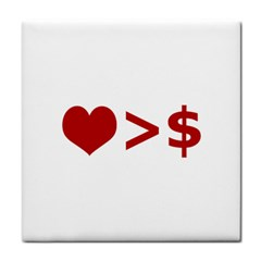 Love Is More Than Money Face Towel