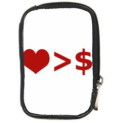Love Is More Than Money Compact Camera Leather Case