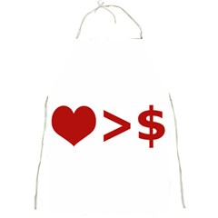 Love Is More Than Money Apron