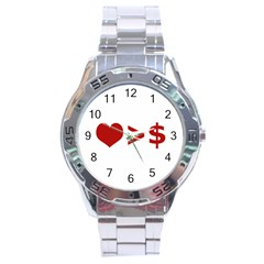 Love Is More Than Money Stainless Steel Watch