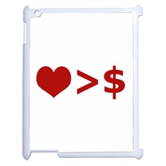 Love Is More Than Money Apple Ipad 2 Case (white)