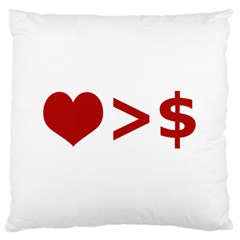 Love Is More Than Money Large Cushion Case (two Sided)