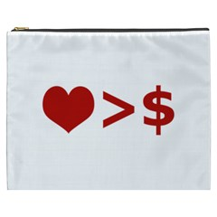 Love Is More Than Money Cosmetic Bag (XXXL)