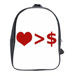 Love Is More Than Money School Bag (xl)