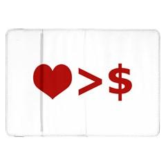 Love Is More Than Money Samsung Galaxy Tab 8.9  P7300 Flip Case