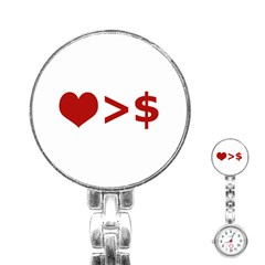 Love Is More Than Money Stainless Steel Nurses Watch