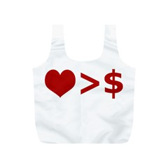Love Is More Than Money Reusable Bag (s)