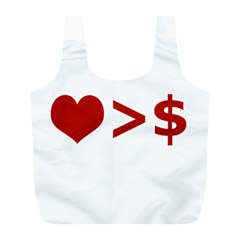 Love Is More Than Money Reusable Bag (L)